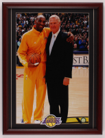 Kobe Bryant & Jerry West Lakers 17.75x23.25 Custom Framed Photo Display with Lakers Patch at PristineAuction.com
