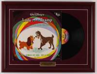 "Walt Disney's ""Lady and the Tramp"" 18x24 Custom Framed Vinyl Record Album Display at PristineAuction.com"