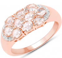 Morganite Oval .925 Sterling Silver Ring at PristineAuction.com