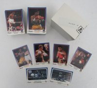 1991 Kayo Complete Set of (250) Boxing Cards with Jesus Salud #209, Jemal Hinton #234, Peter Mitrevski #59, Larry Holmes #189, Simon Brown #42, Muhammad Ali #235 HOLO, Holyfield Decisions Foreman #100 HOLO at PristineAuction.com