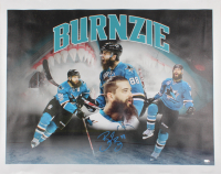 "Brent ""Burnzie"" Burns Signed Sharks 33x41 Print On Canvas (Burns COA) at PristineAuction.com"