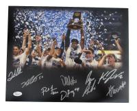 2016 Villanova Wildcats National Champions 11x14 Photo Team-Signed by (8) With Josh Hart, Kevin Rafferty, Daniel Ochefu, Henry Lowe (JSA COA) at PristineAuction.com