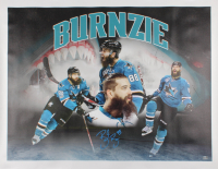 "Brent ""Burnzie"" Burns Signed Sharks 33x41 Print On Canvas (Burns COA) at PristineAuction.com"