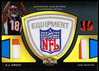 A.J. Green 2011 Topps Triple Threads Relic NFL Shield #TTNFLS16 (1/1) at PristineAuction.com