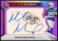 Marlon Mack 2019 Panini Elements Neon Signs Tier 1 Purple #37 at PristineAuction.com