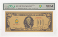 """1934 $100 One Hundred Dollars """"Smithsonian Edition"""" Gold Certificate (PMG Gem Uncirculated) at PristineAuction.com"""