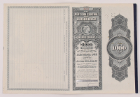 1897 New York Central & Hudson River Railroad Company $1,000 One-Thousand Dollar Mortgage Bond with Uncut Sheet of (4) $17.50 Seventeen Dollars and Fifty Cents Coupons at PristineAuction.com