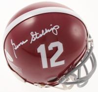 Gene Stallings Signed Alabama Crimson Tide Mini Helmet (Beckett COA) at PristineAuction.com