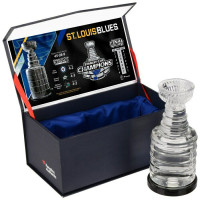 St. Louis Blues 2019 Stanley Cup Champions Mini Crystal Trophy at PristineAuction.com