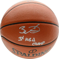 "Dwyane Wade Signed Spalding Basketball Inscribed ""3x NBA Champ"" (Fanatics Hologram) at PristineAuction.com"
