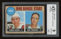 1968 Topps #247 Rookie Stars/Johnny Bench RC/Ron Tompkins (BCCG 9) at PristineAuction.com