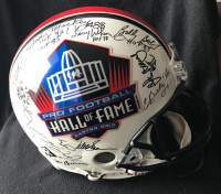 Hall of Famers Full-Size Authentic On-Field Helmet Signed by (37) with Walter Payton, Jim Brown, Emmitt Smith, and Dan Marino & Inscriptions (PSA LOA) at PristineAuction.com