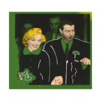 """Ringo Signed """"Mr. and Mrs. DiMaggio"""" 16x16 One-of-a-Kind Mixed Media Painting on Canvas at PristineAuction.com"""