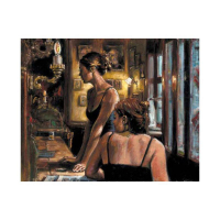"""Fabian Perez Signed """"El Federal Cafe"""" Hand Textured Limited Edition 12x16 Giclee on Board AP #11/15 at PristineAuction.com"""
