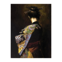"""Fabian Perez Signed """"Geisha"""" Hand Textured Limited Edition 26x20 Giclee on Canvas AP #14/35 at PristineAuction.com"""