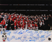 2015 Blackhawks Stanley Cup 16x20 Photo Team-Signed by (23) with Patrick Sharp, Brandon Saad, Andrew Shaw, Scott Darling, Marian Hossa, Joel Quenneville (YSMS COA) at PristineAuction.com
