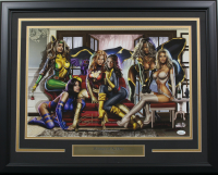 "Greg Horn Signed LE ""The Women of X-Men"" 20x26 Custom Framed Lithograph Display (JSA COA) at PristineAuction.com"
