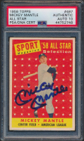 Mickey Mantle Signed 1958 Topps #487 AS TP (PSA Encapsulated) at PristineAuction.com