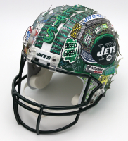 "Joe Namath & Charles Fazzino Signed Jets Hand-Painted Full-Size Helmet Inscribed ""SB III MVP"" (Beckett LOA) at PristineAuction.com"