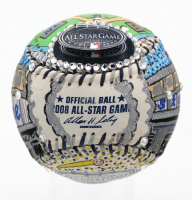 Charles Fazzino Hand-Painted LE 2008 All-Star Game Baseball at PristineAuction.com