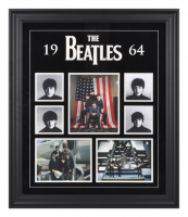 The Beatles 20x27 Custom Framed Licensed 1964 Photo Collage Display at PristineAuction.com