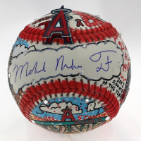Mike Trout & Charles Fazzino Signed Angels Hand-Painted Baseball (MLB Hologram) at PristineAuction.com