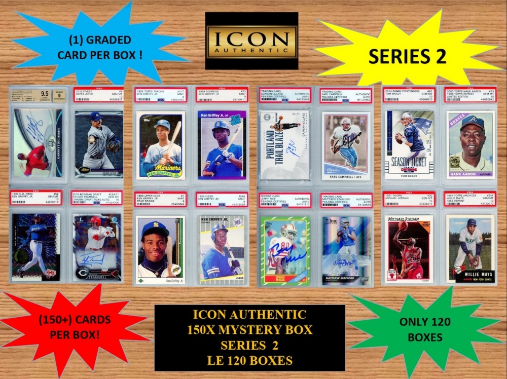 ICON AUTHENTIC  150X MYSTERY BOX SERIES 2 150+ Cards per Box at PristineAuction.com