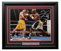 Floyd Mayweather Jr. Signed 22x27 Custom Framed Photo Display (JSA COA) at PristineAuction.com