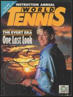 Chris Evert Signed 1989 World Tennis Magazine (Palm Beach COA) at PristineAuction.com