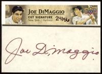 Joe DiMaggio 2010 Upper Deck Baseball Heroes DiMaggio Cut Signature #JD at PristineAuction.com
