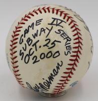LeRoy Neiman Signed One-Of-A-Kind Hand-Painted Derek Jeter OAL Baseball with Inscriptions (PSA LOA & JSA LOA) at PristineAuction.com