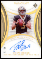 Drew Brees 2018 Immaculate Collection Honors Signatures #3 at PristineAuction.com