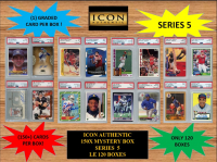 ICON AUTHENTIC  150X MYSTERY BOX SERIES 5 150+ Cards per Box at PristineAuction.com