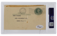 Cy Young Signed Government Postcard (PSA Encapsulated & JSA LOA) at PristineAuction.com