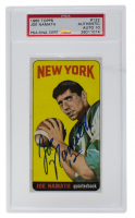 Joe Namath Signed 1965 Topps #122 SP RC (PSA Encapsulated) at PristineAuction.com