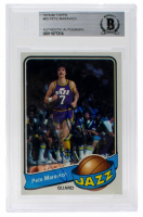 Pete Maravich Signed 1979-80 Topps #60 (BGS Encapsulated) at PristineAuction.com