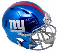 Saquon Barkley Signed Giants Full-Size Chrome Speed Helmet (Panini COA) at PristineAuction.com