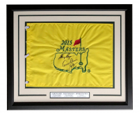 Arnold Palmer, Gary Player & Jack Nicklaus Signed 2015 Masters 19x23 Custom Framed Pin Flag Display (PSALOA) at PristineAuction.com