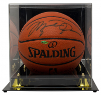 Michael Jordan Signed NBA Game Ball Series Basketball With Display Case (UDA COA) at PristineAuction.com
