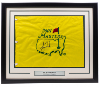 Tiger Woods Signed 2001 Masters 22x27 Custom Framed Pin Flag Display (PSALOA) at PristineAuction.com