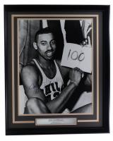 Wilt Chamberlain 76ers 22x27 Custom Framed Photo Display (JSA LOA) at PristineAuction.com