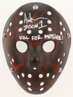 "Ari Lehman Signed ""Friday the 13th"" Mask Inscribed ""Jason 1"" & ""Kill for Mother!"" (Lehman Hologram) at PristineAuction.com"