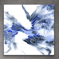 """""""Composition 276"""" 14x14x1 Giclee on Metal at PristineAuction.com"""