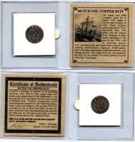 1726-1794 Dutch VOC Copper Duit Colonial Coin at PristineAuction.com