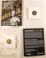 Salonina. AD 253-268 - Roman Age of Chaos Ancient Bronze Coin at PristineAuction.com