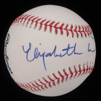 Elizabeth Warren Signed OML Baseball (PSA Hologram) at PristineAuction.com