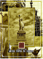 The Statue of Liberty 6x8 Photo with Copper Shavings from the Statue of Liberty Ellis Island National Monument (The Zone COA) at PristineAuction.com