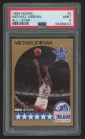 Michael Jordan 1990-91 Hoops #5 All-Star (PSA 9) at PristineAuction.com