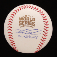 "Kyle Schwarber Signed 2016 World Series Baseball Inscribed ""16 WS Champs"" (Palm Beach COA & JSA COA) at PristineAuction.com"