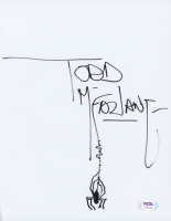 "Todd McFarlane Signed ""Spider-Man"" 8.5x11 Sheet with Hand-Drawn Sketch (PSA Hologram) at PristineAuction.com"